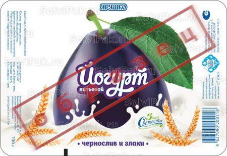 Этикетка йогурта