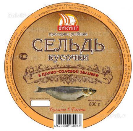 Этикетка на консервы и пресервы рыбные