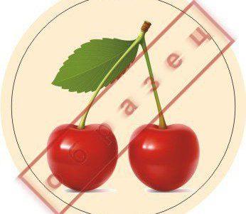 Стикер вишня