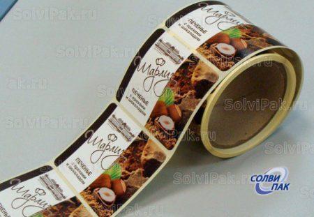Этикетка в рулоне на пачку печенья