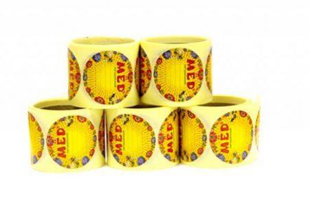 Этикетки самоклеящиеся на банки меда