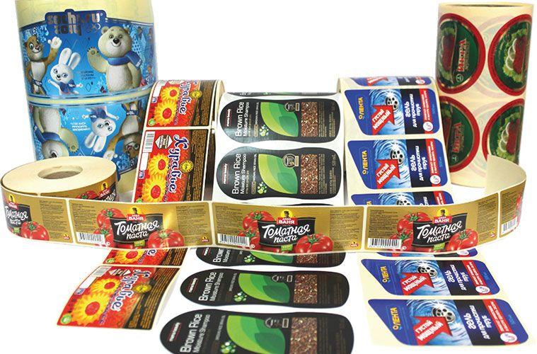 самоклеящиеся этикетки с логотипом для продуктов