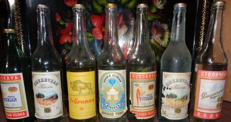 различные этикетки на водку ссср