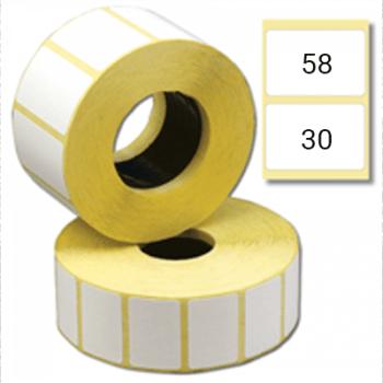 Этикетка 58х30 мм полуглянцевая