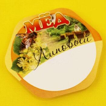 Этикетка на мёд липовый