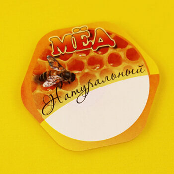 Этикетка на мёд натуральный