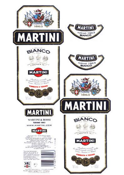 Этикетка на мартини